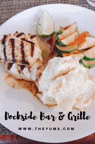 Broiled Nassau Grouper at the Dockside Bar & Grille, Old Bahama Bay Resort