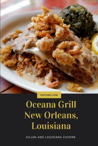 Enjoy the blackened redfish LaFouche at Oceana Grill in the French Quarter in New Orleans.