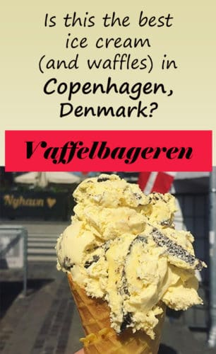 For the best waffles and ice cream in Copenhagen, Denmark, visit Vaffelbageren, at Nyhavn.