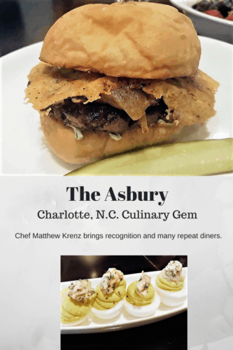 For biscuits, brunches, beef or bars, The Asbury consistently makes the list of top restaurants in the city of Charlotte, North Carolina. Executive Chef Matthew Krenz and Pastry Chef Miranda Brown are drawing diners frequently to come back for more. Read the review.