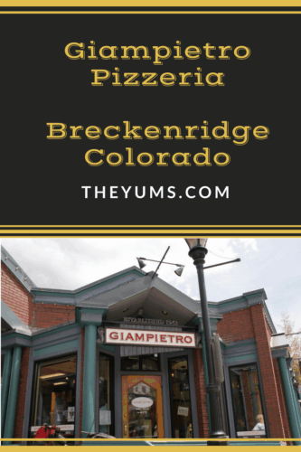 exterior shot of giampietro pizzeria in breckenridge colorado