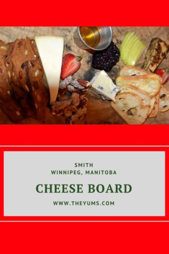 Smith's cheese board adds interest to your meal!