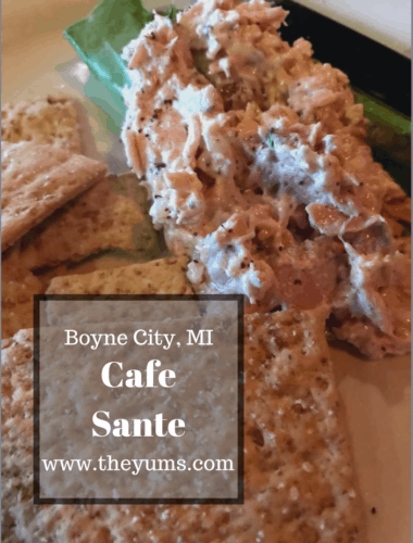 Cafe Sante at Boyne Mountain in Norther Michigan is a great spot to eat. Here's a review. #fromtheyums #michigan #restaurants