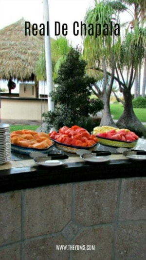 A display of brunch items at Real de Chapala in Ajijic Mexico