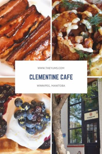 Clementine Cafe a favorite for breakfast or brunch in Winnipeg, Manitoba.