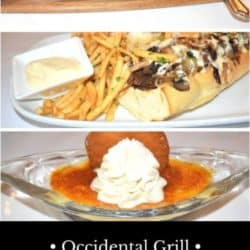Sample dishes from the Occidental Grill and Seafood Restaurant in Washington, D.C.