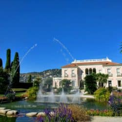 The Villa Ephrussi de Rothschild and French garden with fountains