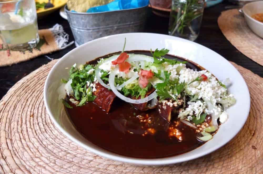 mole at la olla restaurant oaxacz