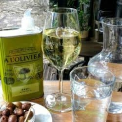 Olives, olive oil, and wine
