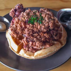 Comfort food for a Cause at Toast Kitchen + Bakery Fried Chicken and Belgian Waffle