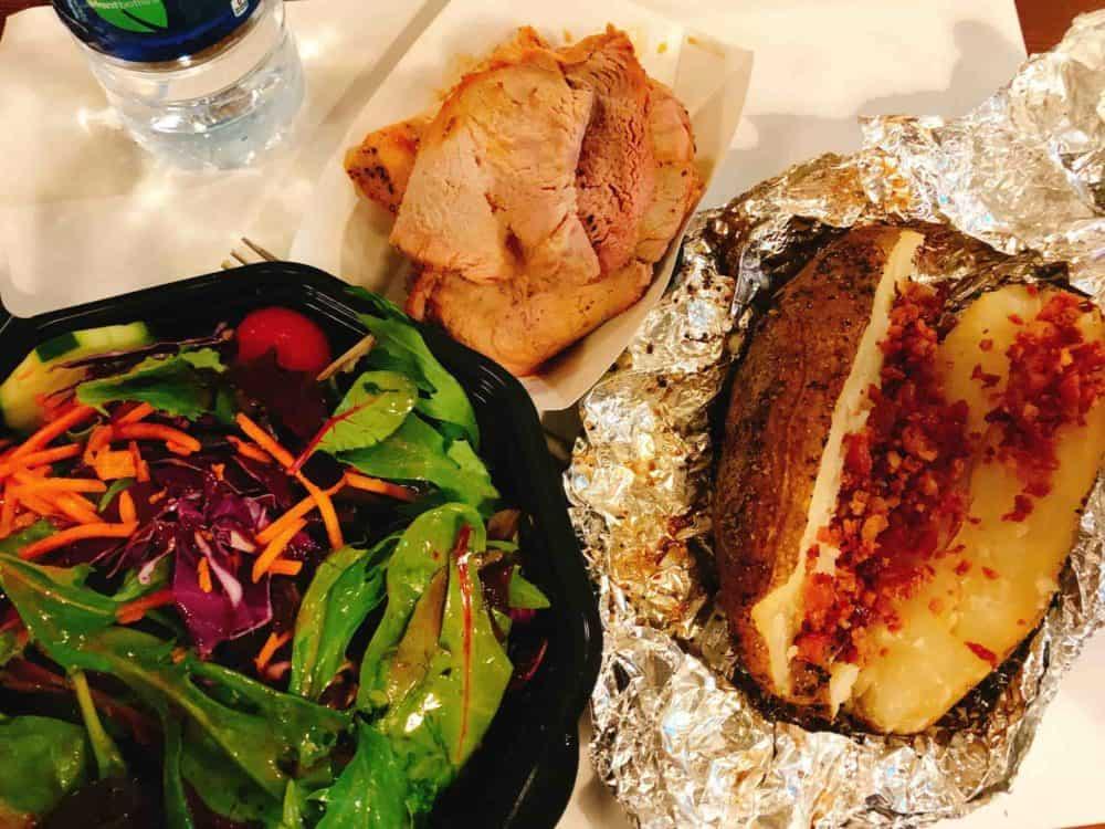 Cooper's Bar-b-que – Austin Texas – Pork tenderloin, baked potato with bacon bits, and a tossed salad