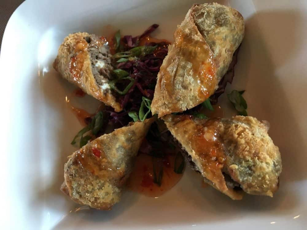 Filet Mignon Eggroll from Eleven at the Reunion Resort in Kissimmee, Florida