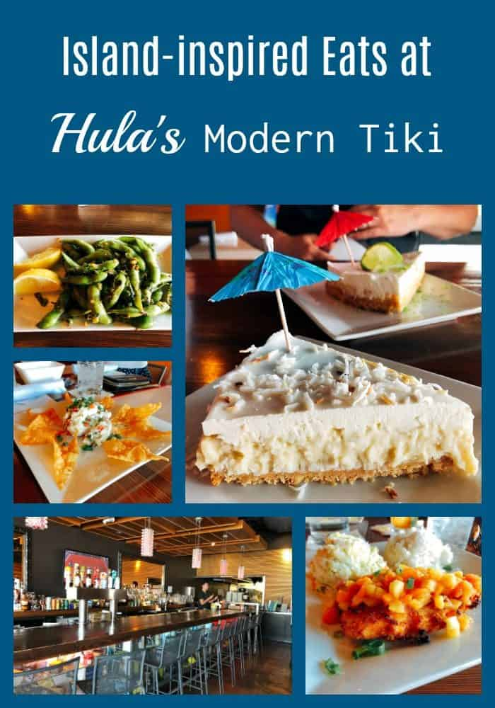 A collage of dishes served at Hula's Modern Tiki - Island-inspired eats.  Scottsdale, Arizona.