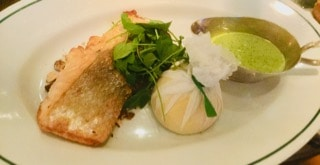 A salmon lunch at the Ivy on Dawson in Dublin, Ireland.