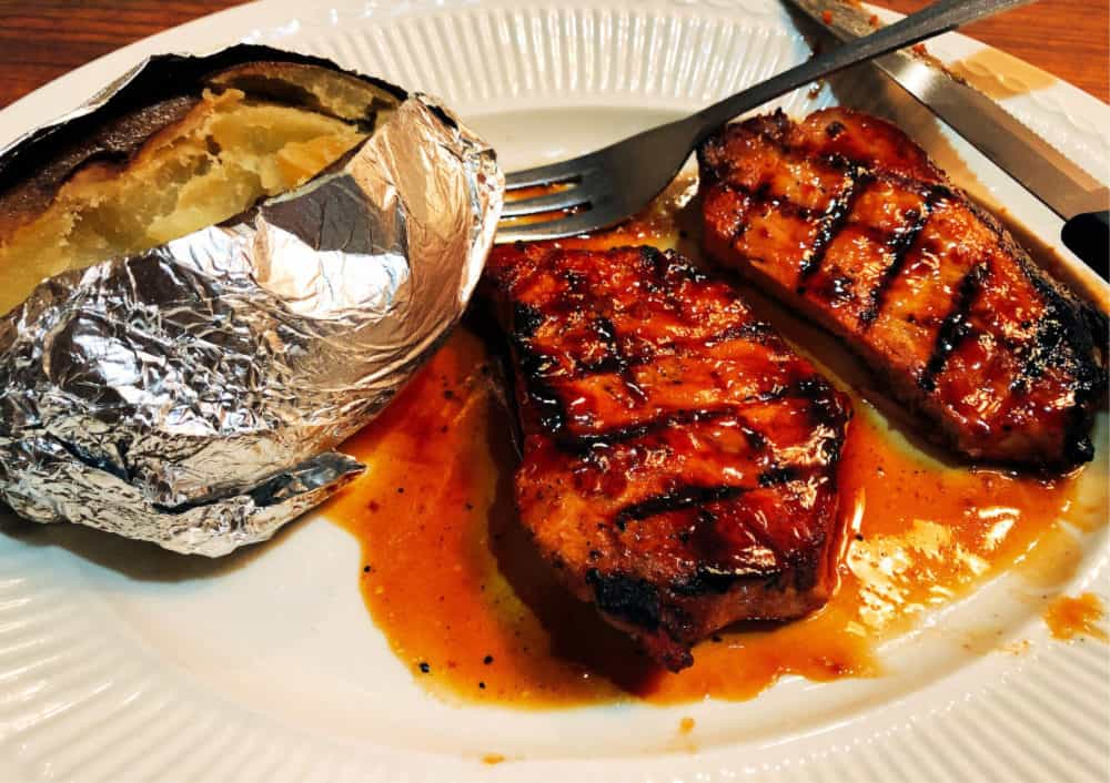Jack Daniels Pork Chops at Ivy Stone