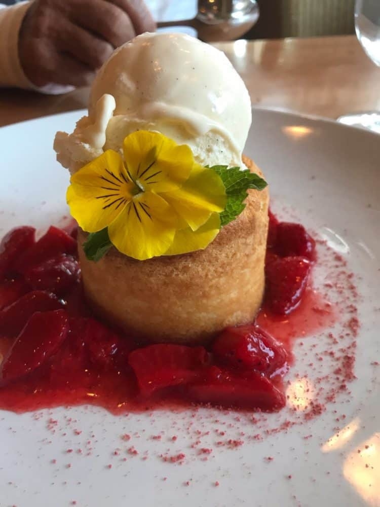 Warm Strawberry Butter Cake at LARKS
