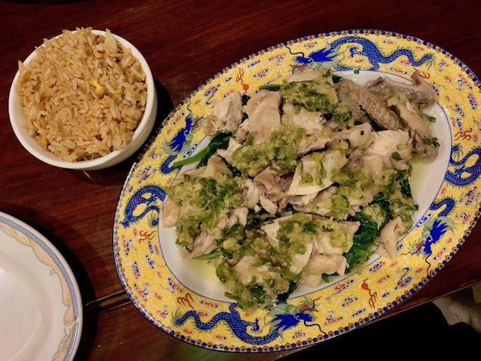 Cashew chicken at Dragon Palace in South Carolina