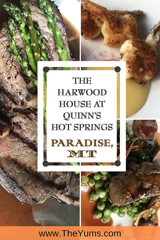 What could be better than being in Paradise? Devouring the Prime Rib at the Harwood House at Quinn's Hot Springs after a day of relaxation spent hot springs soaking (or river rafting or fishing)! The meals here provide a perfect complement to a self-indulgent day. #fromtheyums #foodie #montana
