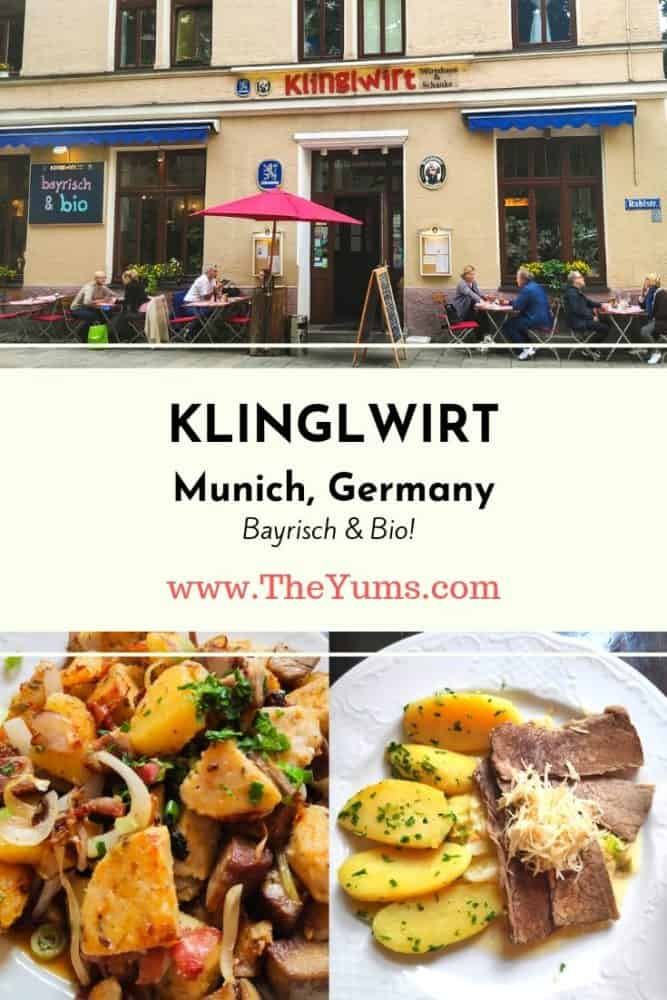 Serving traditional, hearty Bavarian dishes like knödel (potato dumplings), spätzle (egg noodles), and sauerkraut in scrumptious sauces, Klinglwirt in Munich, Germany, is a truly local restaurant.  The best part? It's all organic.
