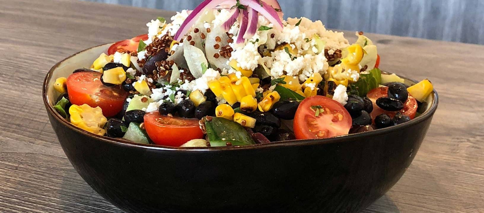 Fusion and favorites at LIT Café quinoa and vegetable salad