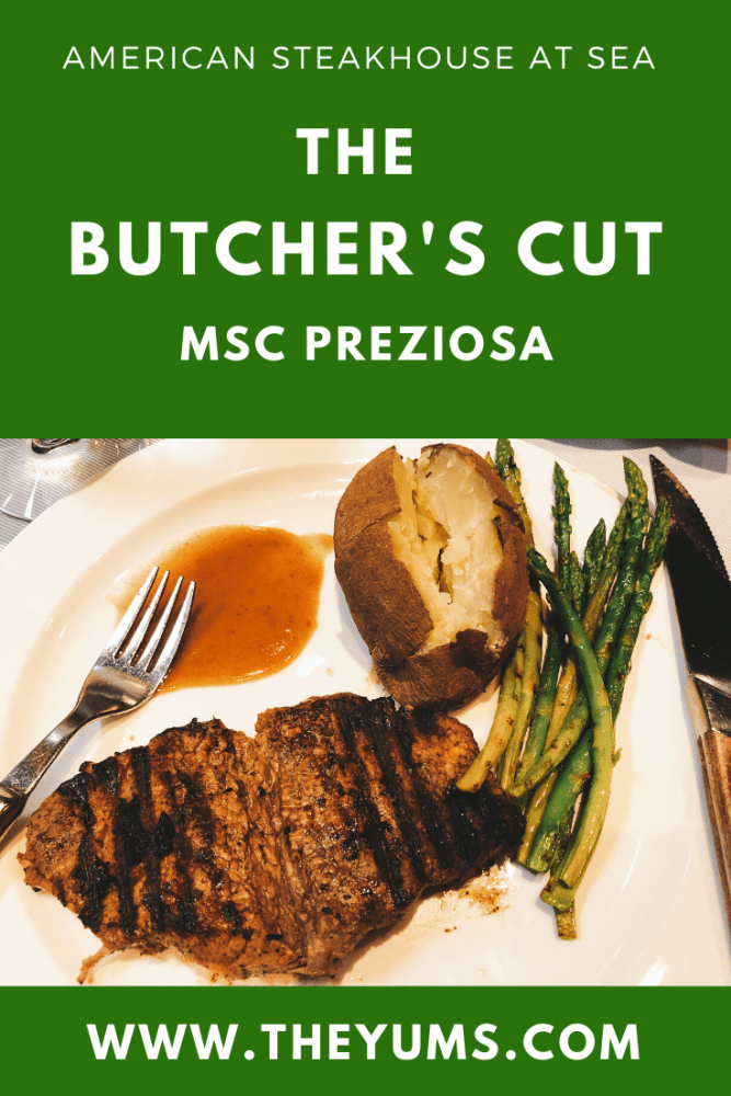 The Butcher's Cut on MSC Preziosa. A great American Steakhouse at sea.