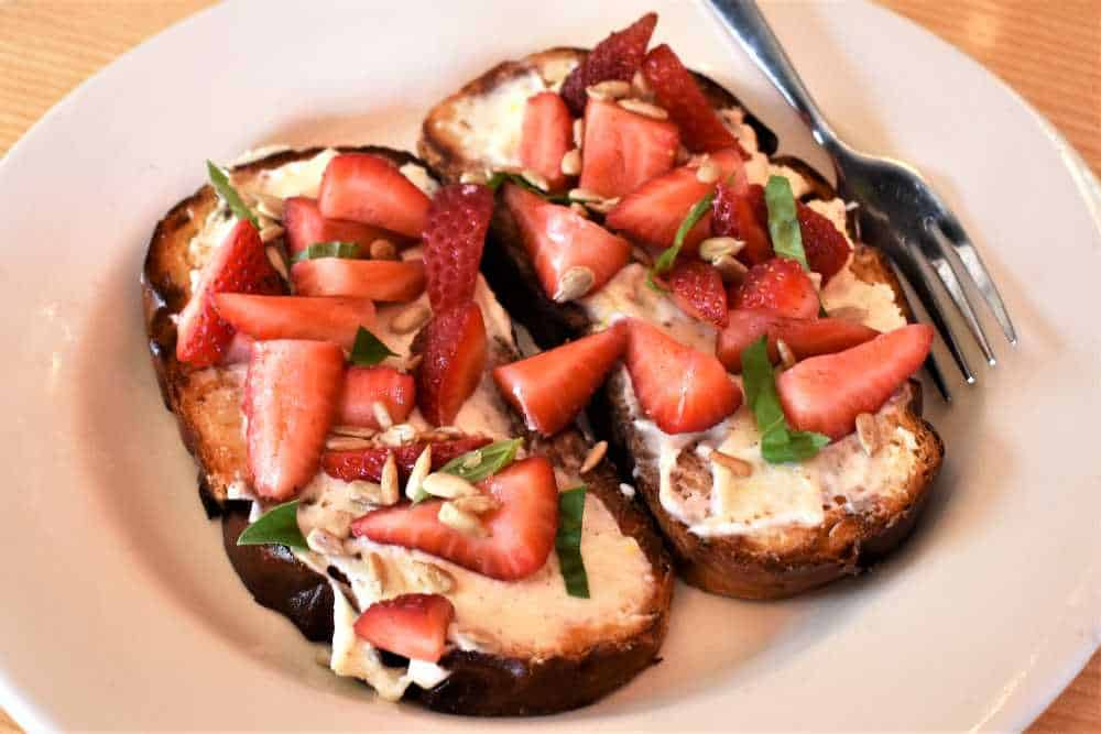 Ricotta Toast at Terra in Grand Rapids, Michigan