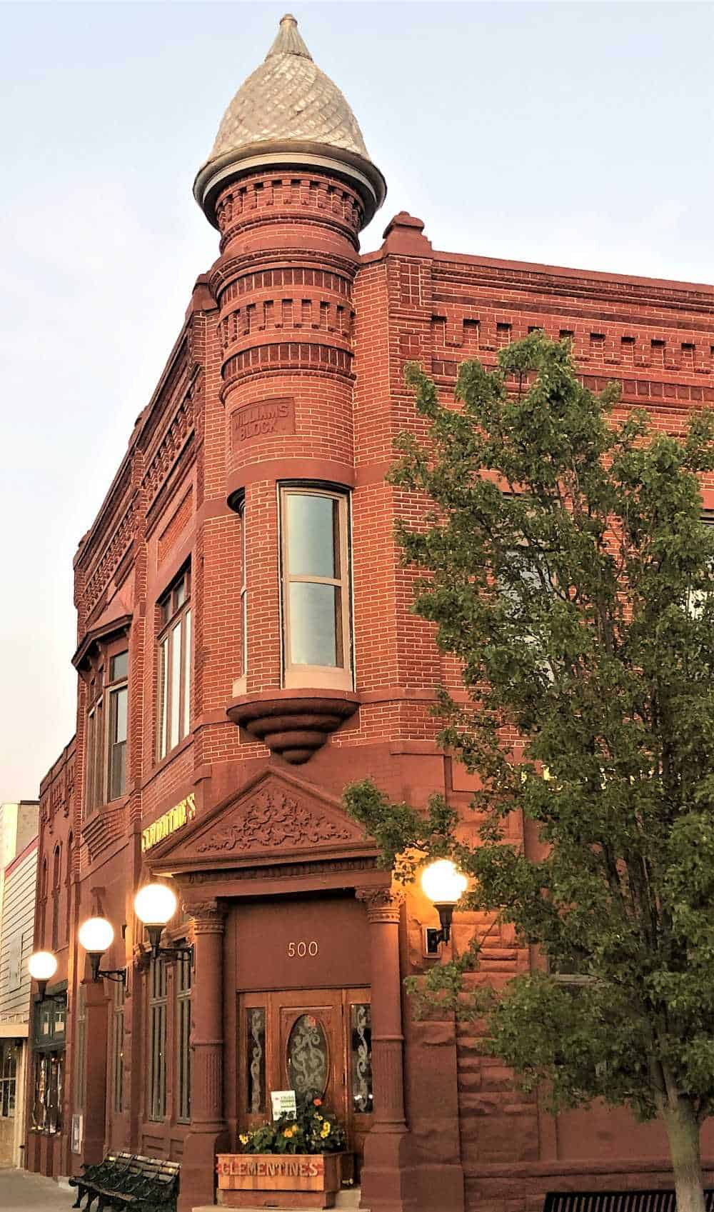 Clementine's stands grandly at the corner of Phoenix and Center Streets. A majestic golden copula crowns the red-brick building, making it impossible to miss.