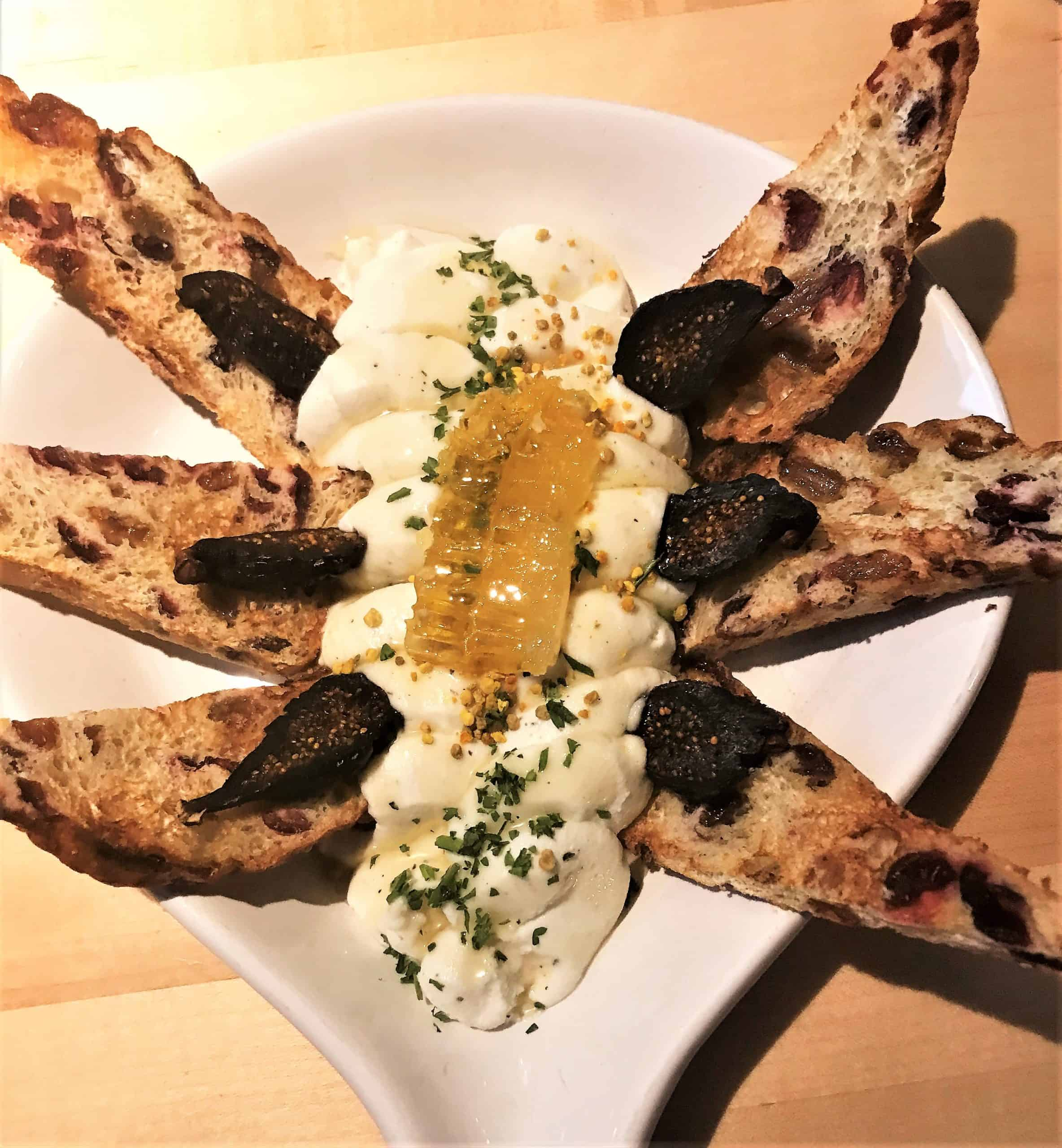 A ricotta cheese spread starter at Mootz in Detroit, Michigan